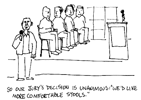 The jury's decision is unanimous: 'We want more comfortable stools.'