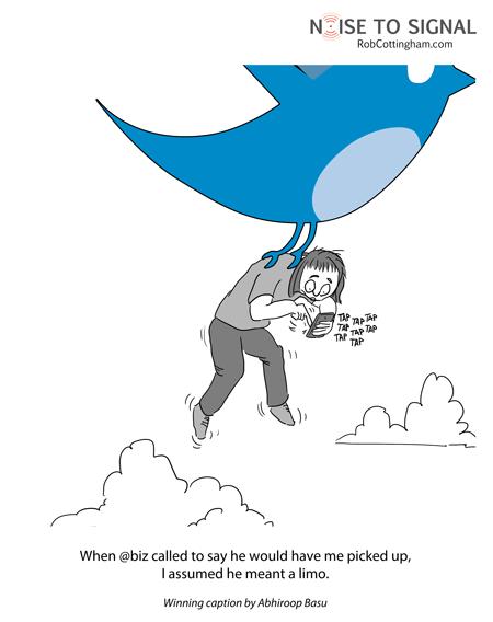 Alternate version of cartoon with @biz