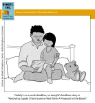 """(Parent reading to young child) """"Daddy has a work deadline, so tonight's bedtime story is 'Resolving Supply Chain Issues in Real Time: A Proposal to the Board'"""""""