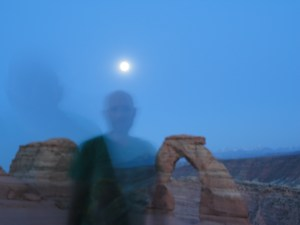 Full Moon over Arches National Park
