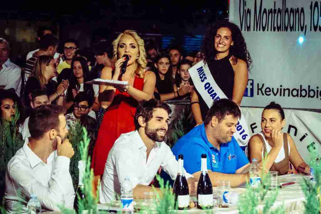 Presentatrice l'elezione di Miss Quarrata