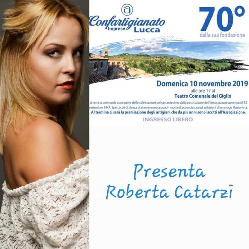 Presentatrice 70esimo di Confartigianato Imprese Lucca