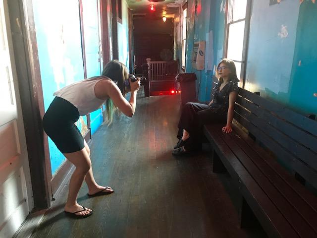 Roberta Finocchiaro shooting fotografico a Memphis