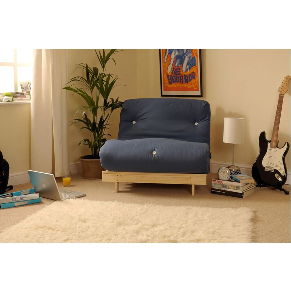 Albury Sofa Bed Set With Tufted Mattress Navy Robert Dyas