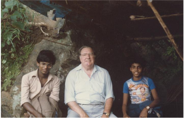 At the Dunhinda falls, Sri Lanka