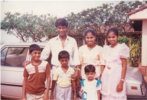 Robert and family in Sri Lanka
