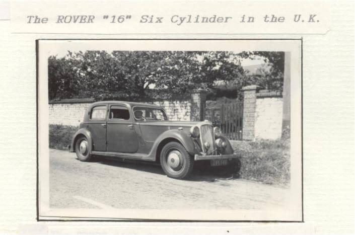 Rover 16 six cylinder