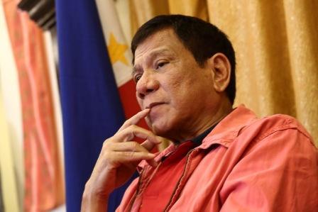 Rodrigo Duterte, Philippine president-elect, in a press conference on May 26, 2016 in Davao City.