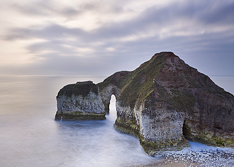 Sea arch at Flamborough Head, East Yorkshire, Yorkshire, England, United Kingdom, Europe