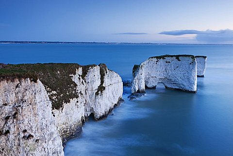 Old Harry Rocks at Handfast Point, the start of the Jurassic Coast, UNESCO World Heritage Site, Dorset, England, United Kingdom, Europe