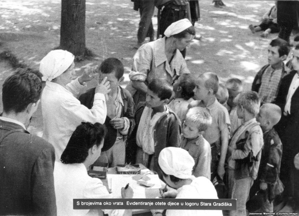 Datenaufnahme Kinder Stara Gradiska 1941