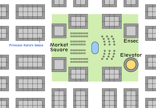 Map of the Market Square area on Floor 1