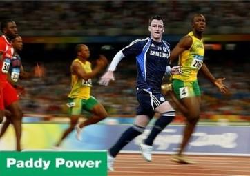 John Terry beats Usain Bolt - not!