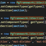 screen shot materialize.js section addition