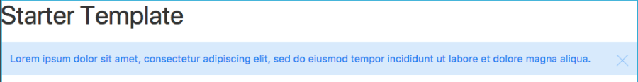 alert element in template
