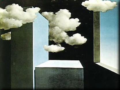 cosa ci resterà: cemento, ombra e un risentimento di nuvole (Magritte)