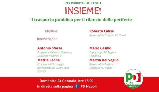 Videoforum PD Napoli su trasporto e periferie