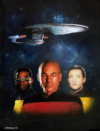 "Painting - ""Star Trek 1995"" Cover"