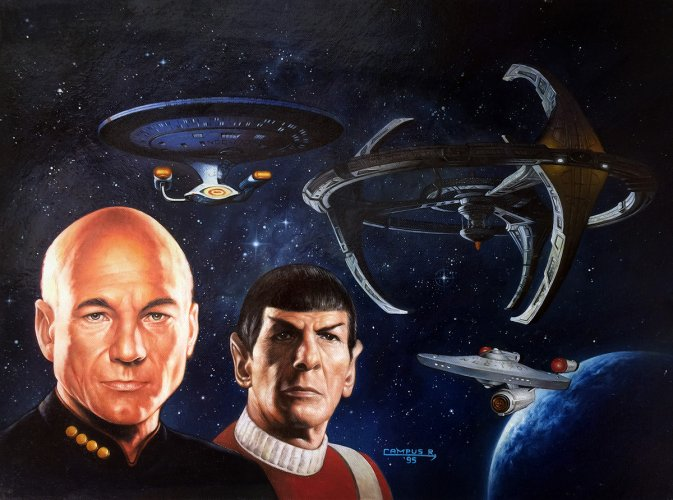 "Painting - ""Star Trek Cross Over"" Cover"