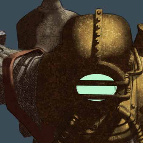 Photoshop Tutorial : Bioshock Videogame Digital Painting - Shadows - Detail