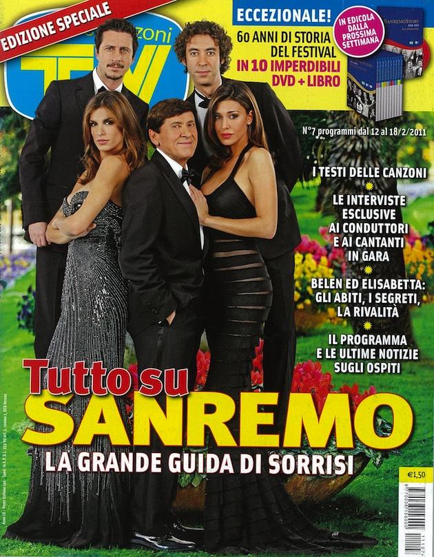 f800b307e4 Elisabetta Canalis in Roberto Cavalli on the cover of TV Sorrisi e ...