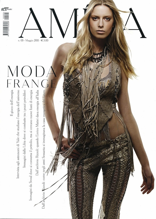 Roberto Cavalli total look on the cover of Amica Italy