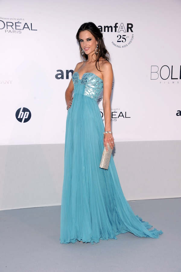 Alessandra Ambrosio in Roberto Cavalli @ 2011 amfAR's Cinema Against AIDS Gala 19-05-2011