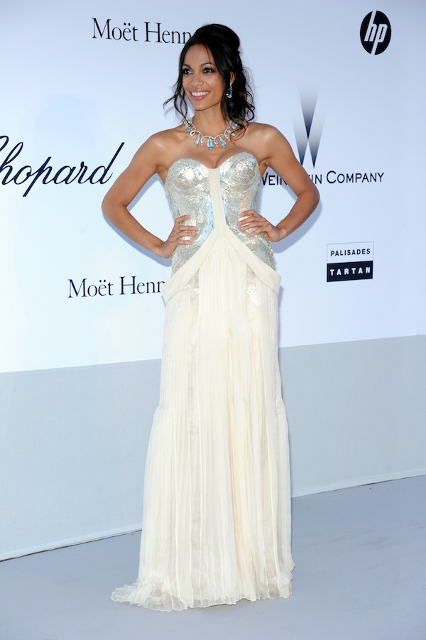 Rosario Dawson in Roberto Cavalli @ 2011 amfAR's Cinema Against AIDS Gala 19-05-2011