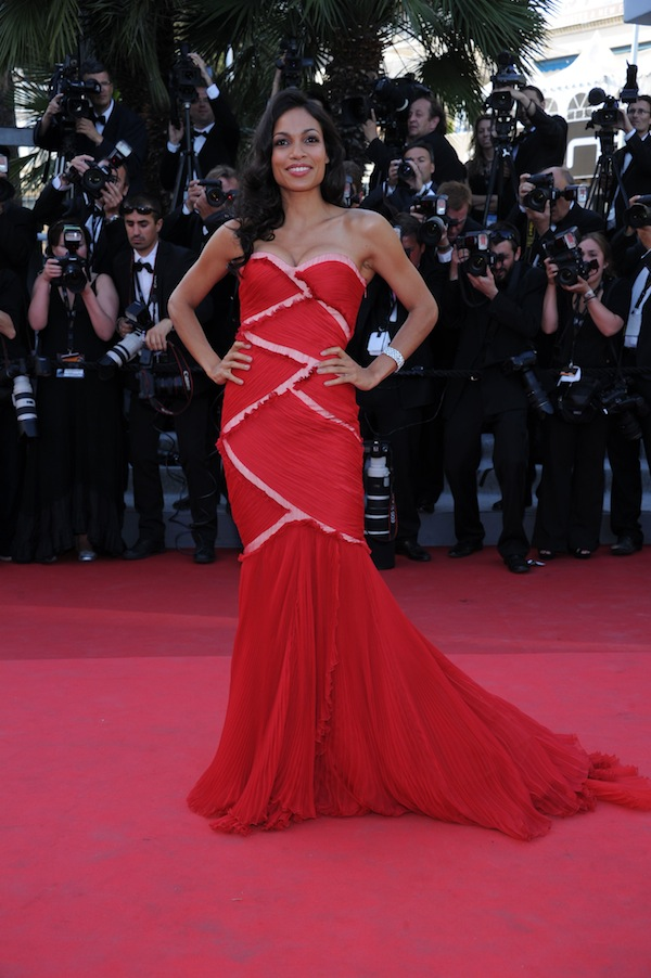 Rosario Dawson in Roberto Cavalli @ the premiere of Sorrentino film this must be the place during 64th cannes film festival 2011-05-20
