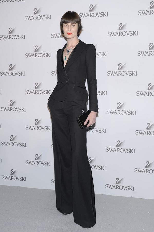 Erin O'Connor in Roberto Cavalli at the Swarowsky party 2011-06-07 in Milan