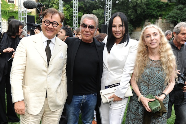 Michael Chow, Roberto Cavalli, Eva Chow and Franca Sozzani
