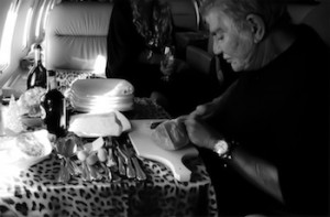 Roberto Cavalli in-flight cooking