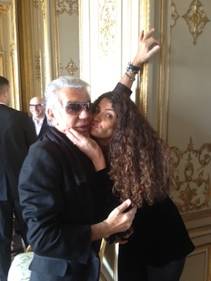 Roberto Cavalli and Afef Jnifen