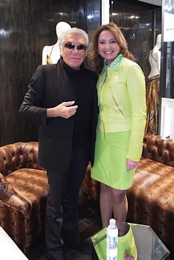 Roberto Cavalli with Hind El Achchabi