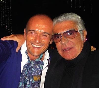 Roberto Cavalli with Alfonso Signorini