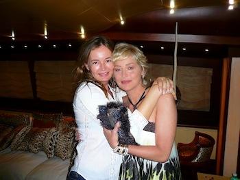 Eva Cavalli with Sharon Stone