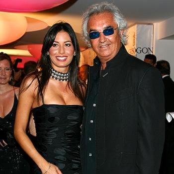 Flavio Briatore with Elisabetta Gregoraci