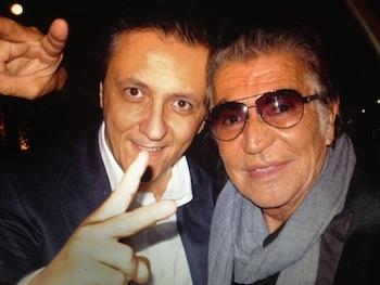 Roberto Cavalli with Daniele Corvasce