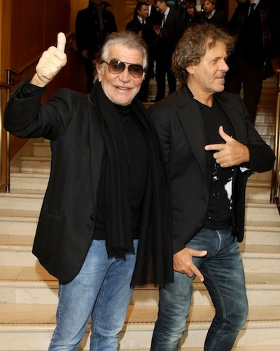 Roberto Cavalli with Renzo Rosso