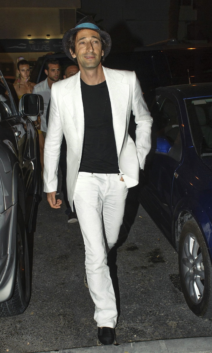 Adrien Brody in Roberto Cavalli at the Opening of the Cipriani Restaurant in Ibiza