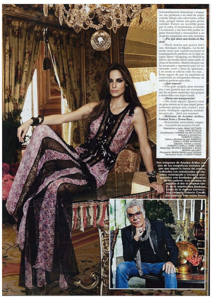 Roberto Cavalli Flagship Store in Madrid, published in Hola Spain July 4th, 2012 issue.