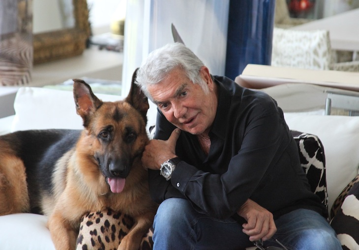 Roberto Cavalli with Lupo
