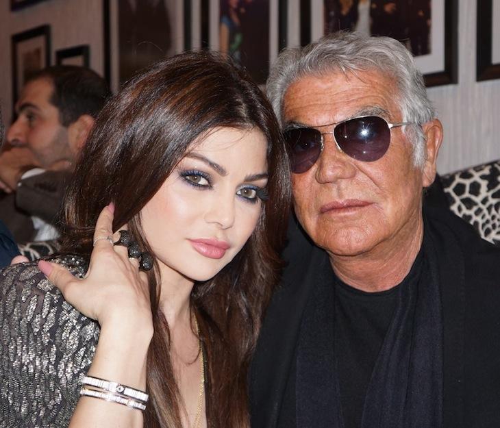 Roberto Cavalli with Haifa Wehbe