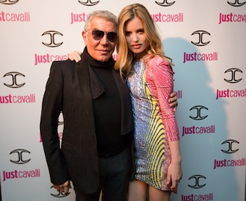 Roberto Cavalli with Georgia May Jagger