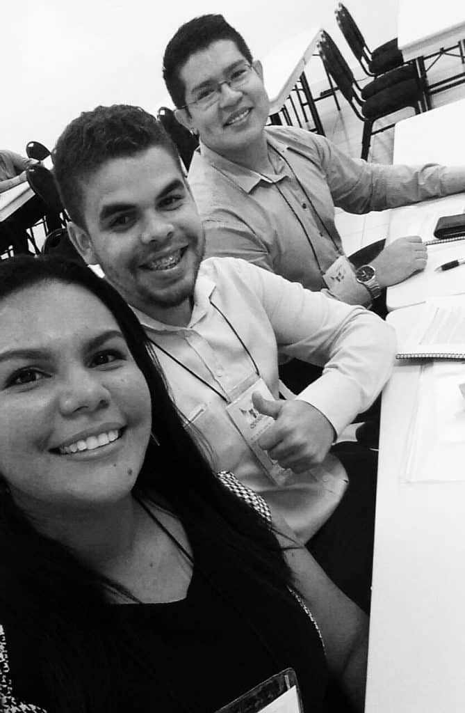 Os jovens contadores empreendedores Elizabeth Cruz (32 anos), Enderson Araújo (27) e Ellermman Sousa (24).
