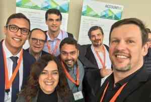 Brasileiros na Accountex USA 2017: André Adolfo (Natal/RN), Gabriel Jacinto (SP), Cristiane Andrade (RJ), Richard (RJ), Edilson Júnior e Roberto Dias Duarte
