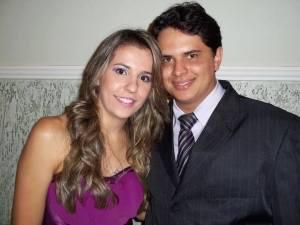 Douglas Marins e sua esposa Graciela Aline Santos