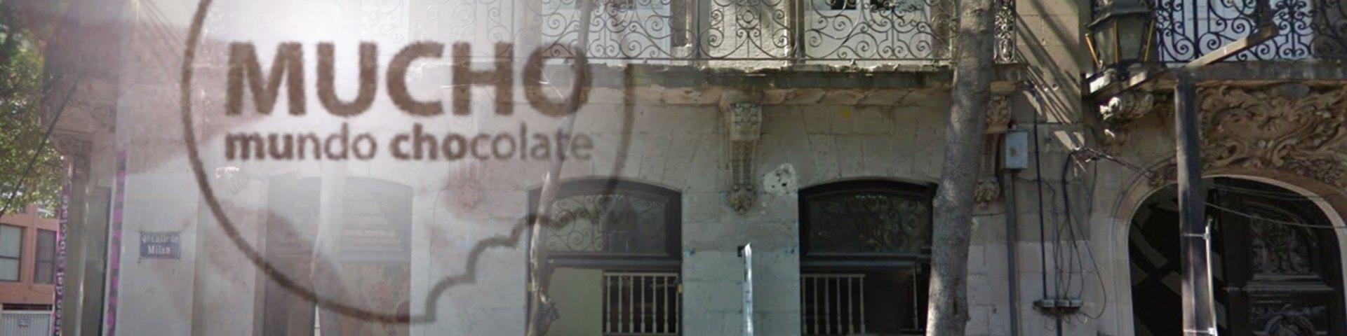 Fachada sobre la calle de Milán en la colonia Juárez del Museo del Chocolate.