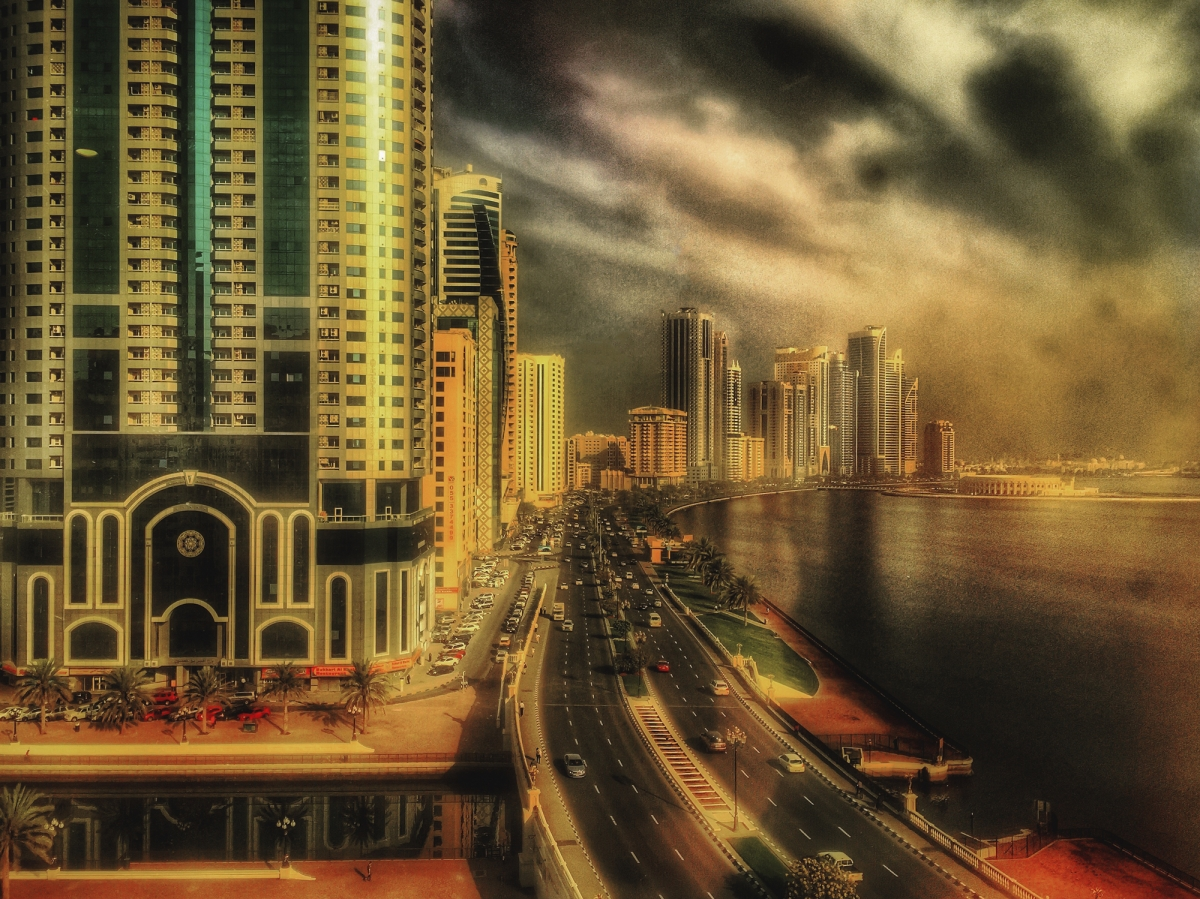 golden glow over the corniche