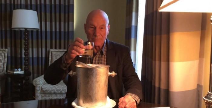 Patrick Stewart ice bucket